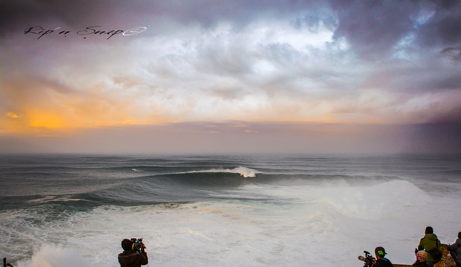 "The massive bowl in effect at Nazaré. Photo: <a href=""https://www.facebook.com/ripandsnap\"" target=_blank>Mark Wengler</a>"