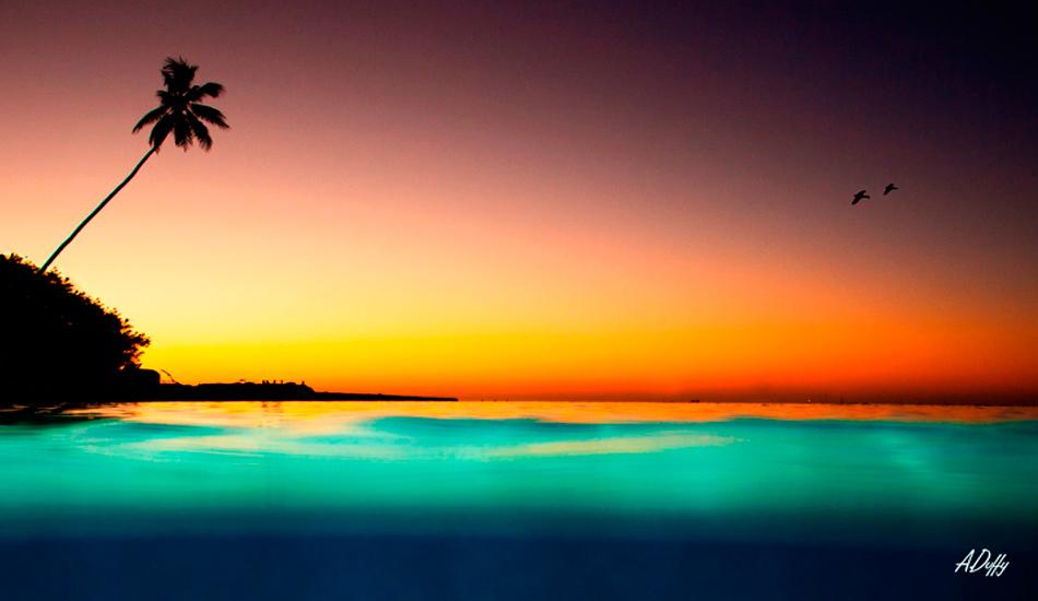 "Sunset on Moorea Island, Tahiti. Photo: <a href=\""http://adamduffyphotography.com/\"">Adam Duffy.</a>"