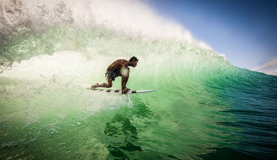 "Skip the sunset mojitos with Bali\'s white linen crowd and get over to the Bukit to catch the best light of the day shining through a wall of Indian Ocean perfection like this one that Nyoman \'Blacky\' caught at Bingin. Photo: <a href= ""http://tommyschultz.com/blog/category/photo-galleries/surf-photography-2/\"">Tommy Schultz</a>"