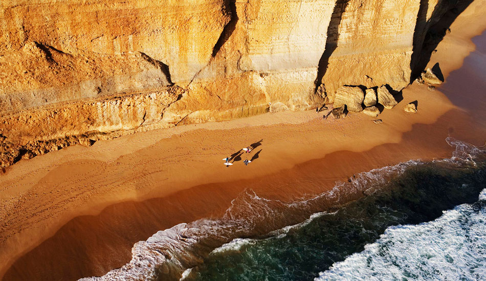 "AERIAL VIEW of the 12 Apostles, along the Great Ocean Road, Australia, 2011. Photo: <a href=""http://www.luciagriggi.com/\"" target=_blank>Lucia Griggi</a>"