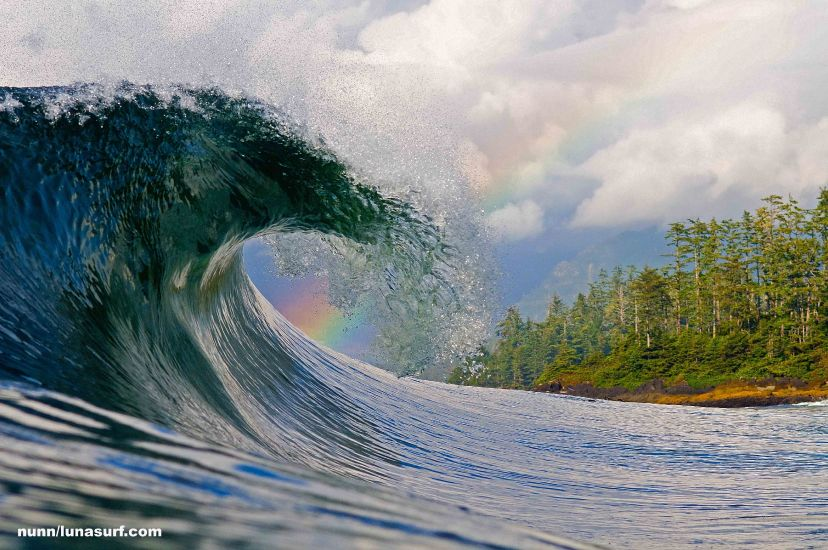 "Rainbow wave. Photo: <a href=http://www.timnunn.co.uk/"" target=_blank>"