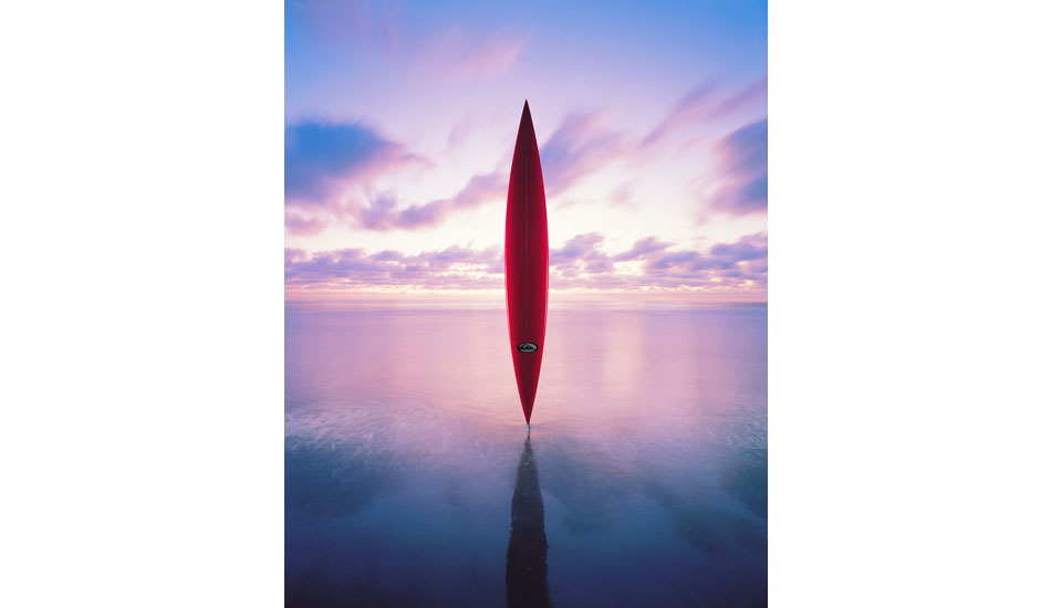 "1995. Dana Strand. Peter Schroff\'s surfboard sculpture for a proposed book entitled, ""The Surfboard.\"" Photo: <a href=\""http://www.artbrewer.com\"" target=_blank>Art Brewer</a>"
