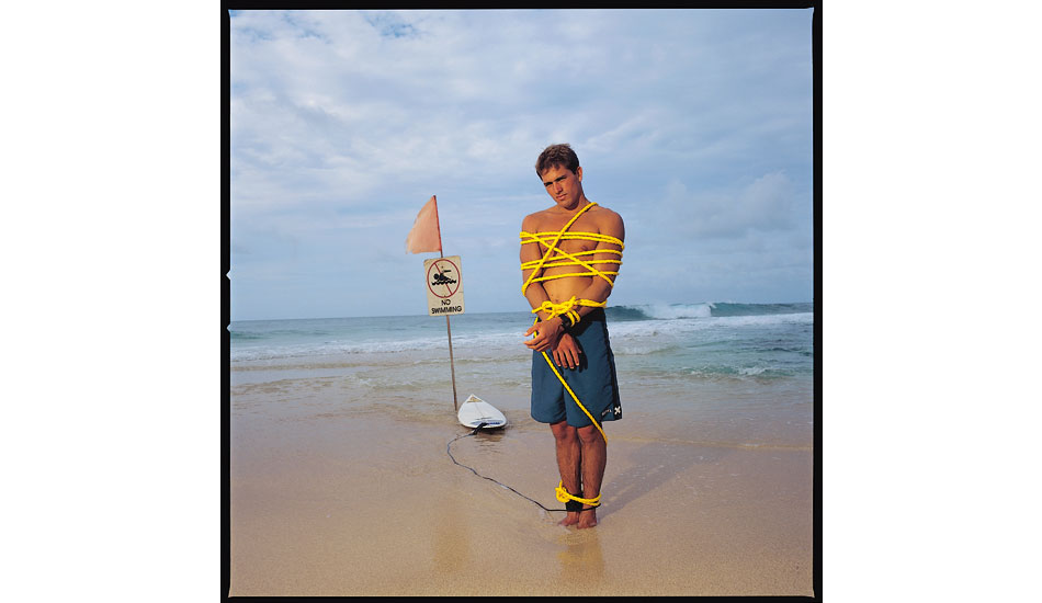 "1995. Kelly Slater. Shoot for Interview Magazine after Kelly\'s 6th World Surfing Championship. Photo: <a href=""http://www.artbrewer.com\"" target=_blank>Art Brewer</a>"
