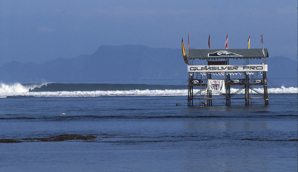 "This was the setup at the Quiksilver Pro G-Land which ran from 1995-1997 and set in motion the foundation for the ""Dream Tour.\"" Photo <a href=\""http://www.aspworldtour.com\"">courtesy of the ASP</a>"