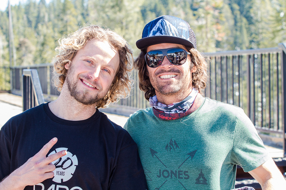 Freeride legends DCP and Jeremy Jones were around to take part in the festivities, taking a backseat to the ladies but helping out wherever they could. PC: Steve Andrews