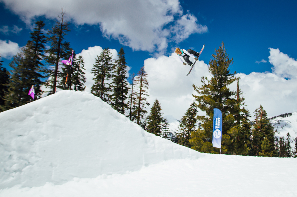 Jamie sending it during the big air expression session. PC: Mahfia.tv