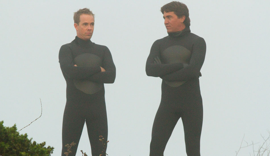 Zach Wormhoudt and Greg Long –getting into character...which happens to be surfers...so it works out pretty well. Photo: 20th Century Fox