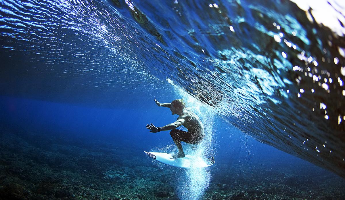 "Andy Irons between this world and another - Tavarua, Fiji. Photo: <a href=\""http://www.brianbielmann.com\"">Brian Bielmann</a>"