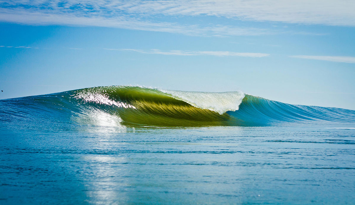 "A-frame Outer Banks. Photo: <a href=\""https://www.surferphotos.com\"">Graham Hunt</a>"