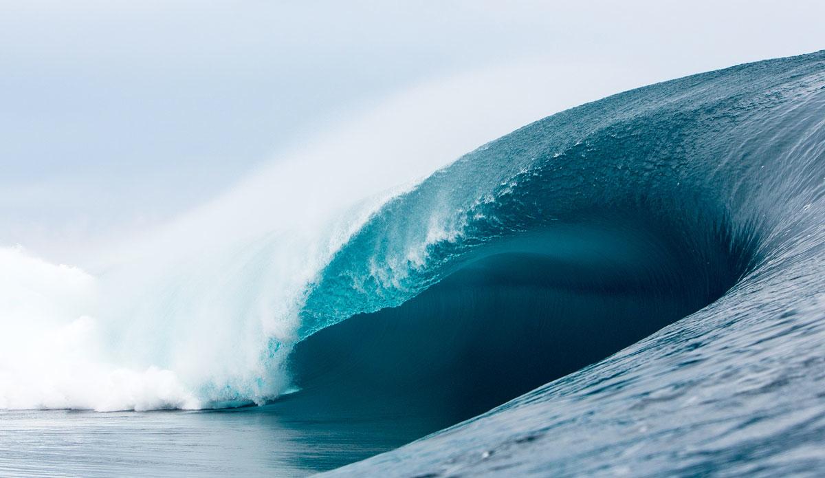 "Teahupoo seemingly unrideable. Photo: <a href=\""http://www.sethderoulet.com\"">Seth de Roulet</a>"