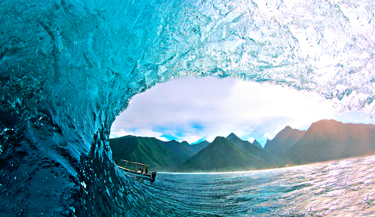 """Best view of Teahupoo. Photo: <a href=\""""https://www.facebook.com/pages/Jared-Sislin-Photography/258114520882025\"""">Jared Sislin</a>"""