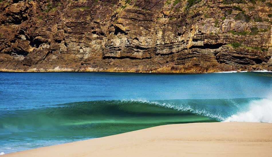 "I won't tell you where this wave is, but let's just say it is not Sydney. The locals here love this place and I wish to return so out of respect, I won't name it. This wave was just insane and this was when I has fresh stitches in my foot. Seeing these peel off was killing me not being able to get in the water, but I think I made it look pretty inviting this way. Any surfer could nail this wave. It was crazy fun. Photo: <a title=""Nate Smith Surf Photos"" href=""http://www.natesmithphoto.com/"" target=""_blank"">Nate Smith</a> from <a href=""http://www.theinertia.com/surf/highlights-from-the-weirdest-year-ever/"" target=""_blank"">Highlights from the Weirdest Year Ever</a>"