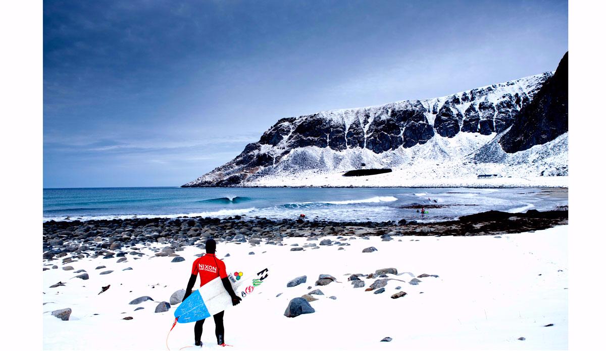 """Lofoten Islands for the Nixon Surf Challenge in 2011. Photo: <a href=\""""https://instagram.com/alexlaurelphotographie\"""">Alex Laurel</a>"""