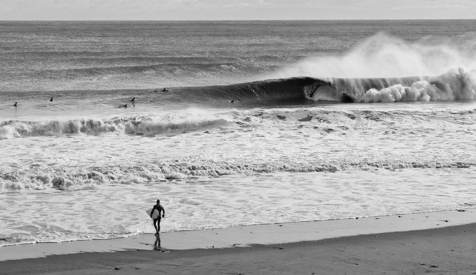 """Someone just scored wave of the day. Photo: <a href=\""""http://jerseyshoreimages.com/about.html\"""">Robert Siliato</a>"""