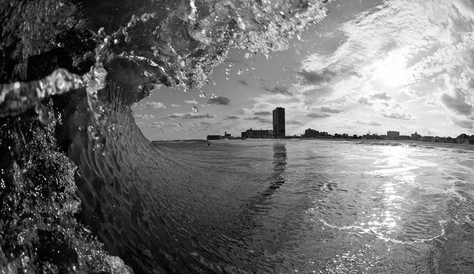 """The view of Asbury Park\'s Historic Convention Hall from inside a wave. Asbury Park, New Jersey. Photo: <a href=\""""http://jerseyshoreimages.com/about.html\"""">Robert Siliato</a>"""