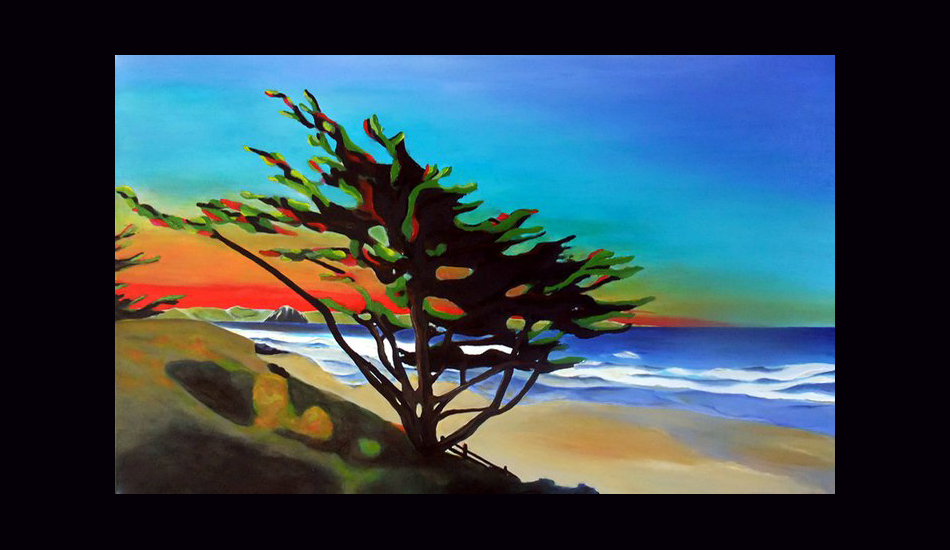 "Twilight, acrylic on canvas. Image: <a href=""http://fionableugallery.com/\"">Chase</a></em></strong>"