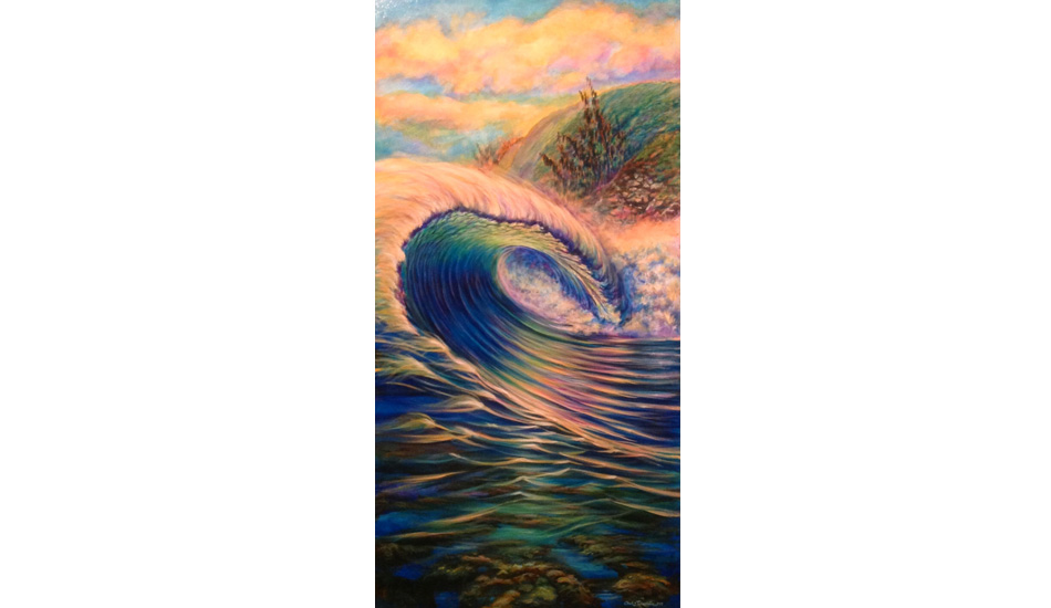 """The Cave.\"" Honolua Bay, Maui. 24\"" x 48\"". 2013."
