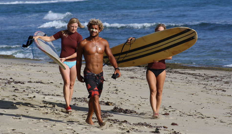 Surf lessons with friendly locals.