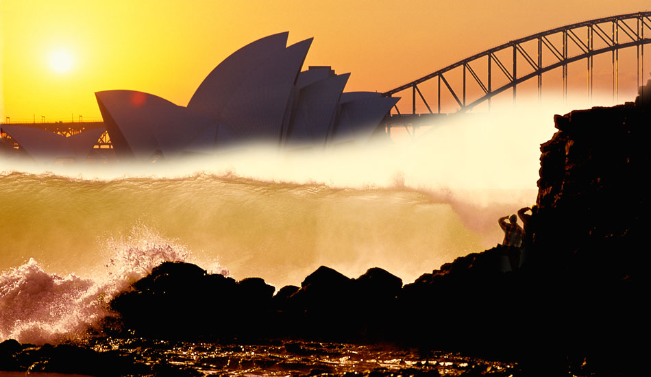 "Sydney opera House and Harbour bridge at Sunset, Australia. Photo: <a href=""http://seandavey.com/\"" target=_blank>Sean Davey</a>"