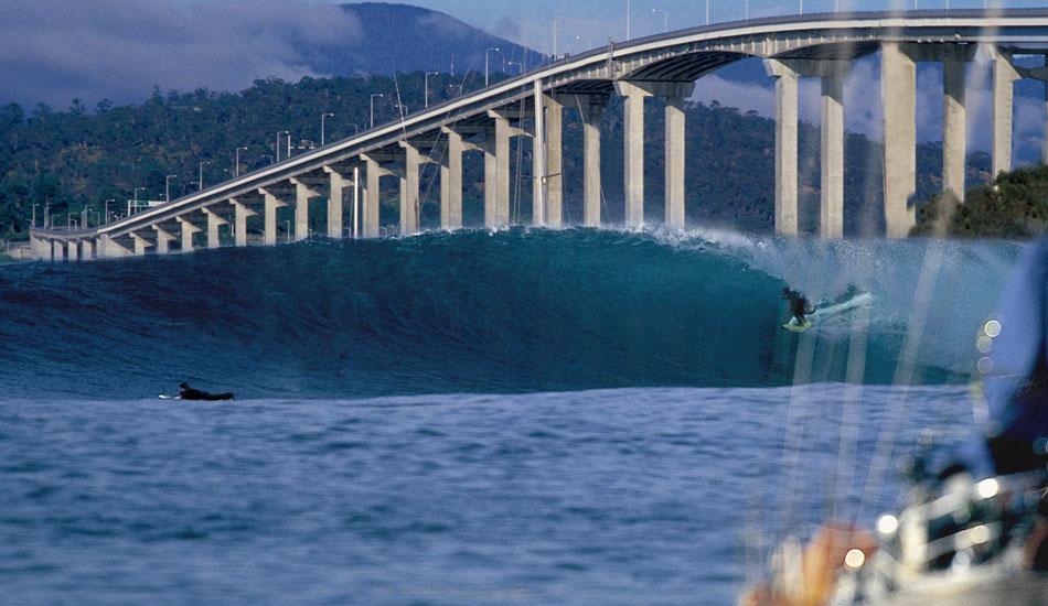 "Underneath the bridge in Hobart, Tasmania. Photo: <a href=\""http://seandavey.com/\"" target=_blank>Sean Davey</a>"
