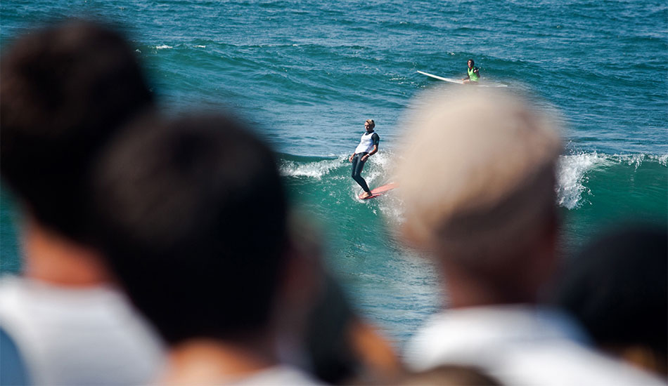 Tyler Warren, riding the wave that made him Vans Salinas Duct Tape winner. The view from the crowd was spectacular.