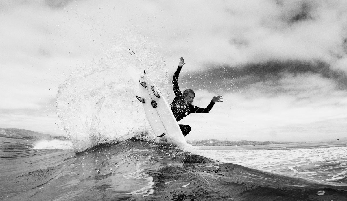 """Kilian Garland showing fins, and then some. Photo: <a href=\""""http://www.nickliotta.com/\""""> Nick Liotta</a>"""