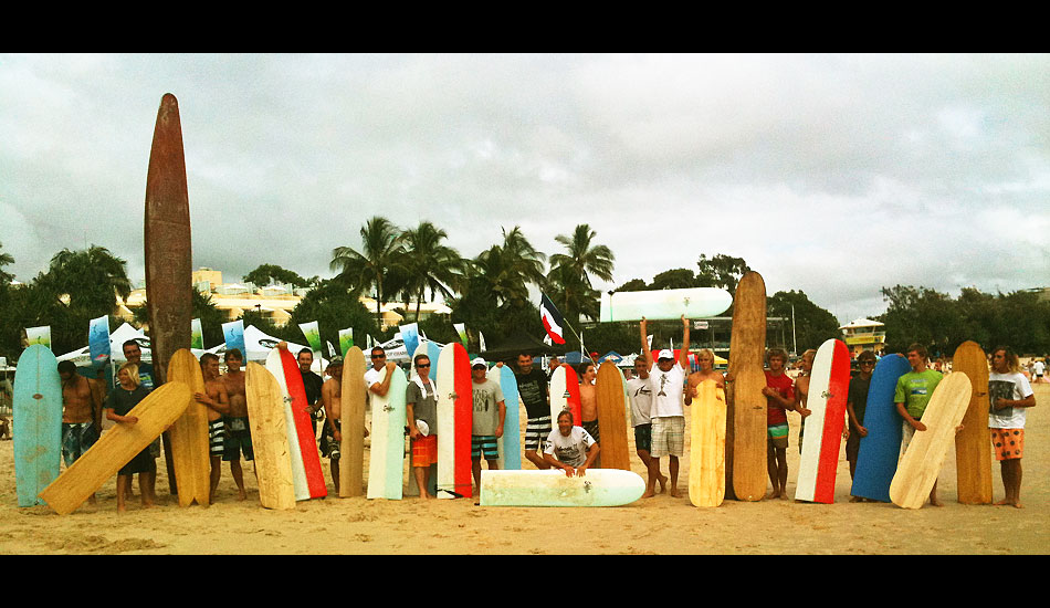 This is the fins-free crew getting ready for the first ever professional finless contest.