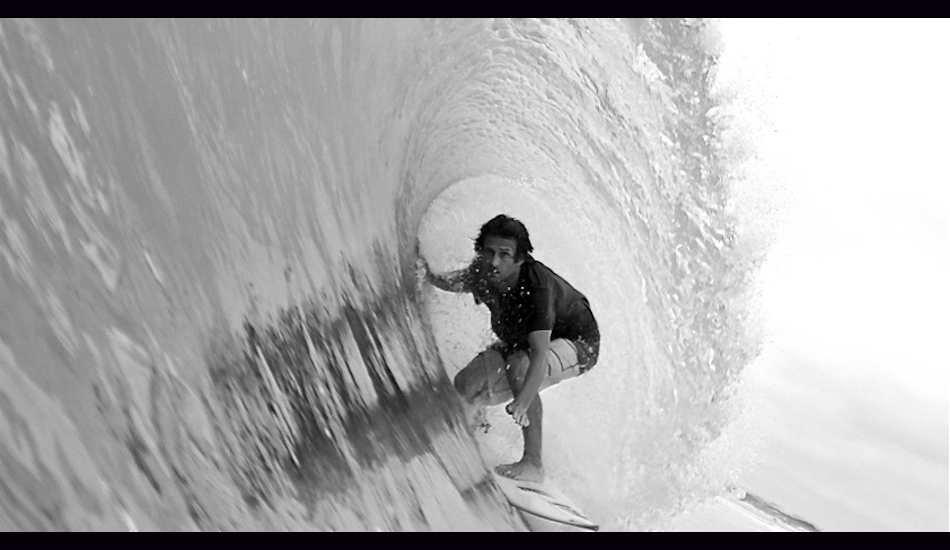 "Hurricane Issac, 2012. Pictured is surf cinematographer Joe Cheshire pulling into a nice one at a favorite local spot. Photo: <a href=""http://www.chrisfrickphotography.com/\"" target=_blank>Chris Frick</a>"