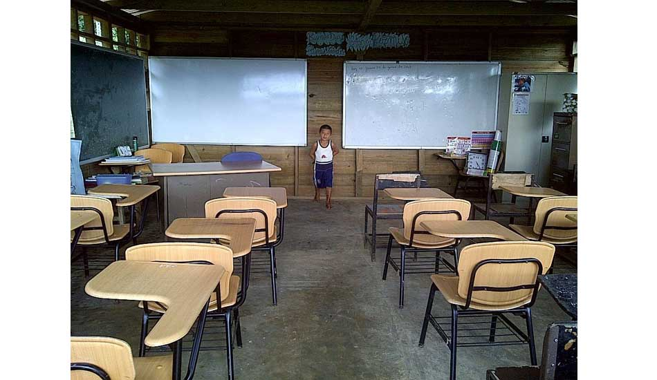 """Welcome to the classroom. Photo: <a href=\""""http://giveandsurf.org/\"""">Give and Surf</a>"""