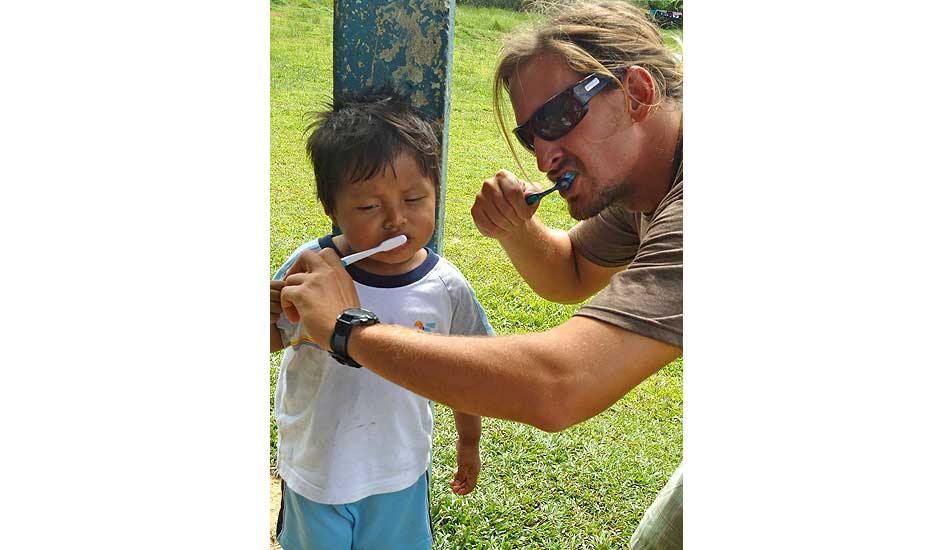 """Hygiene at its finest. Photo: <a href=\""""http://giveandsurf.org/\"""">Give and Surf</a>"""