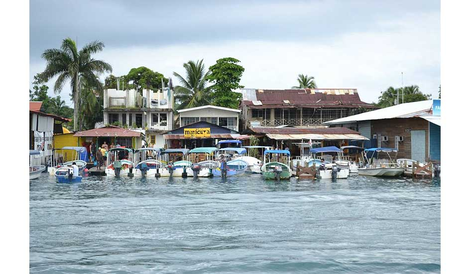 """Bocas del Toro parking lot. Photo: <a href=\""""http://giveandsurf.org/\"""">Give and Surf</a>"""