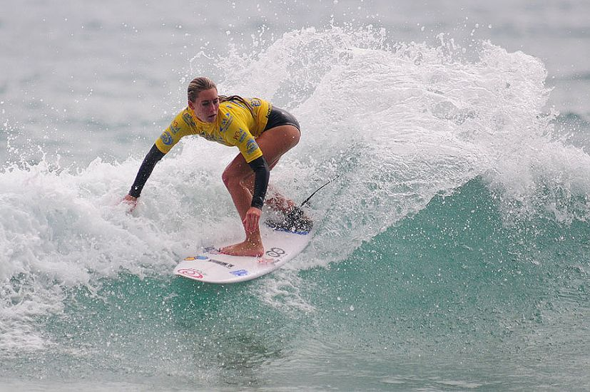Nicola Van Dijk shows off her backhand during the ISA China Cup. Photo: ISA/Tweddle