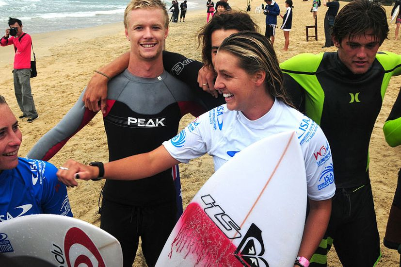 Philippa Anderson stoked on her win at the ISA China Cup. Photo: ISA/Tweddle