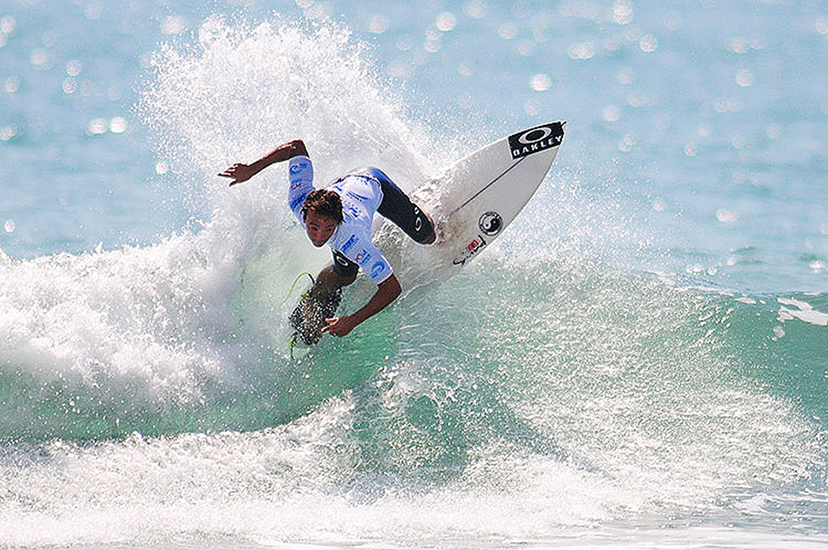 Caio Ibelli on his way to a win at the 4-Star Hainan Classic. Photo: ISA/Tweddle