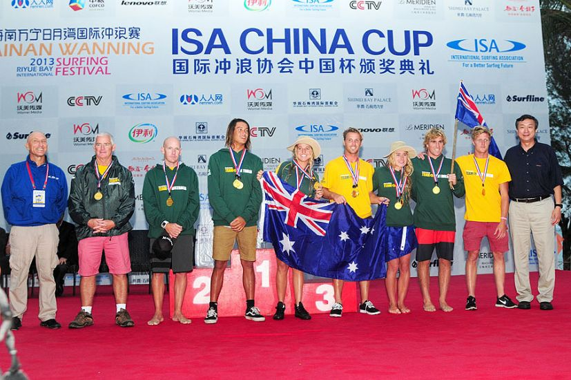 The winners of the Team Division at the ISA China Cup, for the second consecutive time, were the Australians. Photo: ISA/Tweddle