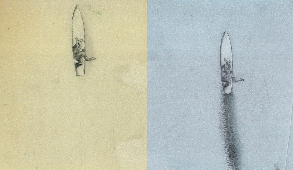 "Scrimshaw studies of Nick Gabaldon as possible imagery for the film ""12 Miles North.\"" Art: <a href=\""http://peterspacek.wordpress.com/\"" target=\""_blank\"">Peter Spacek</a>"