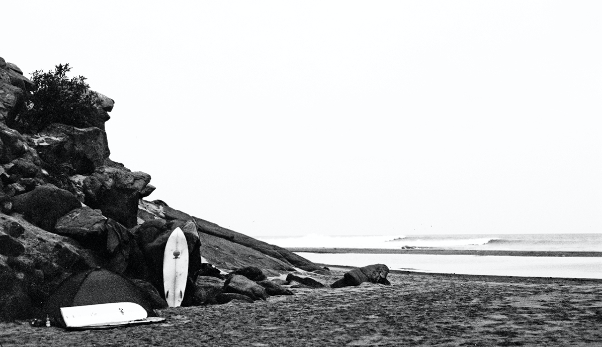 ""\""""Camping On The Surf III"""" 35mm B&W By Jared Aufrichtig""1197|691|?|en|2|0493e519c04275a38e9fec22dff7acd3|False|UNLIKELY|0.29518598318099976