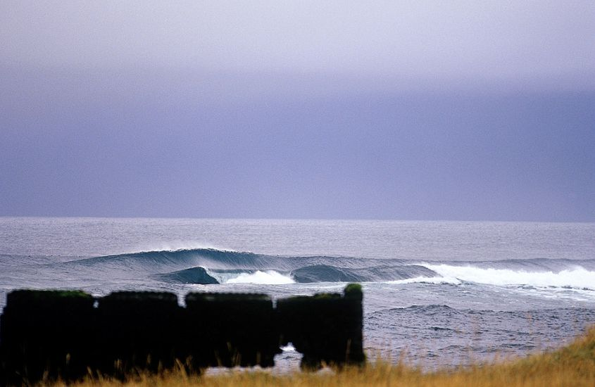 "Reef break. Iceland. Photo: <a href=""http://www.joecurren.com\"" target=_blank>Joe Curren</a>"