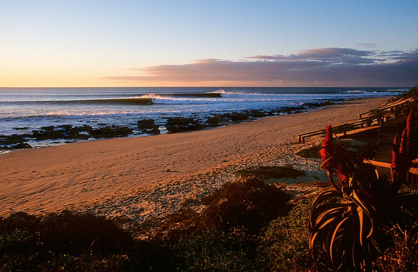 "Jeffreys Bay at sunrise. South Africa. Photo: <a href=""http://www.joecurren.com\"" target=_blank>Joe Curren</a>"
