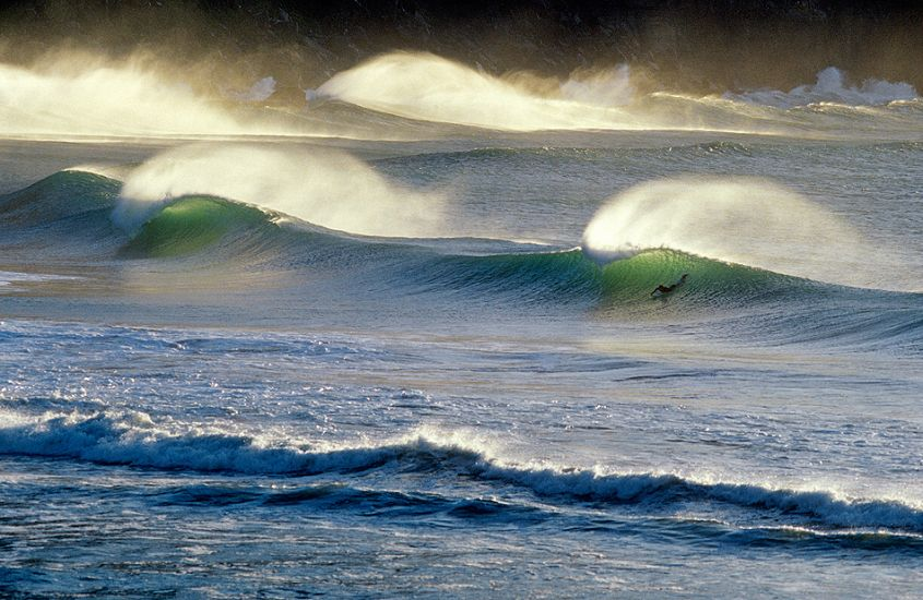 "Surfer, morning light. New Zealand. Photo: <a href=""http://www.joecurren.com\"" target=_blank>Joe Curren</a>"