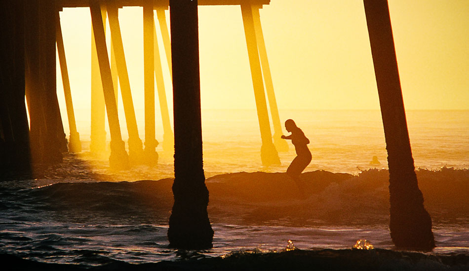 """This image was shot back when I only had a film camera. I remember snapping a few frames of this unidentified girl as she cruised under the pier with style and grace. Weeks later was when I realized how special that moment really was. Photo: <a href= \""""http://molyneuxphoto.com/\"""">Jean Paul Molyneux</a>"""