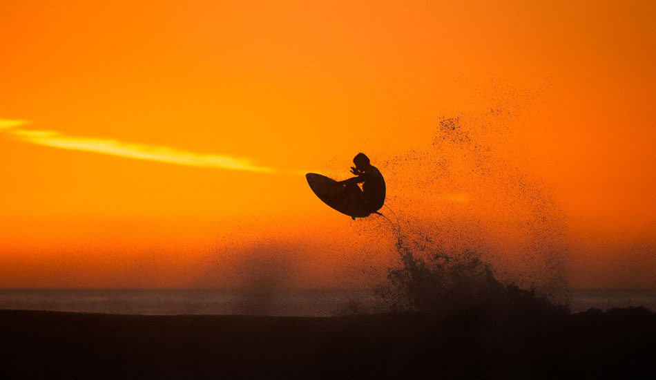 "Sepp Bruhwiler doing his best to stand out in front of another California sunset. Photo: <a href= ""http://molyneuxphoto.com/\"">Jean Paul Molyneux</a>"
