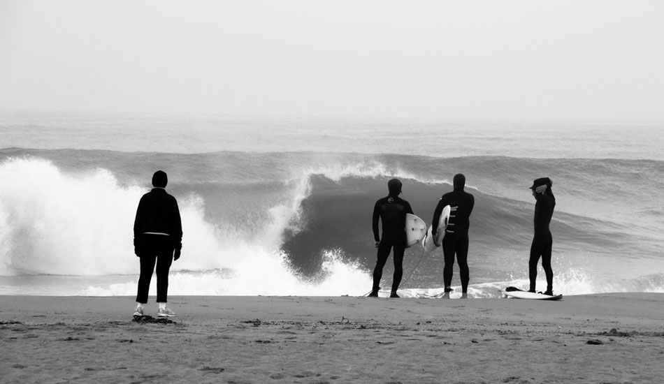 """Dawn patrol in Ventura – it is hard not to stare at the waves peeling through this day. Photo: <a href= \""""http://molyneuxphoto.com/\"""">Jean Paul Molyneux</a>"""