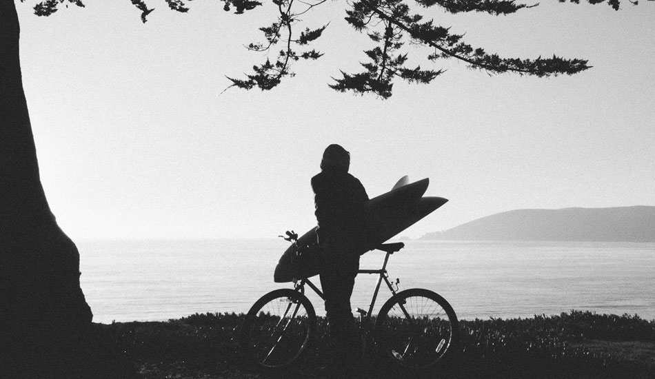"If you live close enough to check the surf via bike consider yourself a blessed person. Biking to the beach has a way of bringing a smile to your face no matter what conditions await you. Photo: <a href= ""http://molyneuxphoto.com/\"">Jean Paul Molyneux</a>"