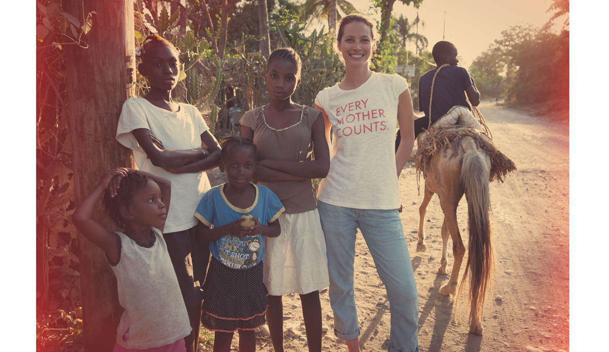 """<a href=\""""http://everymothercounts.org/\"""">Every Mother Counts</a> founder, Christy Turlington, among friends in Haiti. Photo: <a href=\""""http://instagram.com/kassiameador\"""">Kassia Meador</a>"""