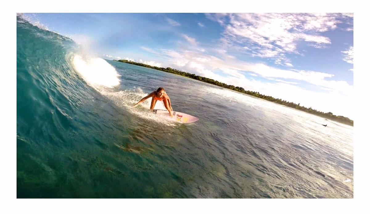 "Janni Honscheid enjoying the drop. Photo courtesy of: <a href=\""https://instagram.com/kealakennelly/\"">Keala Kennelly</a>/<a href=\""http://nouvellevaguela.com/\"">Nouvella Vague</a>"
