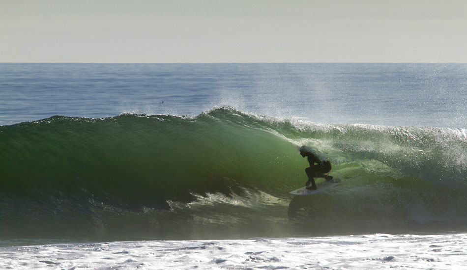 """Surf check. If it\'s going off, Kelly's finding barrels. Photo: <a href=\""""http://lowtiderising.com/\"""" target=_blank>Aroyan/lowtiderising.com</a>"""
