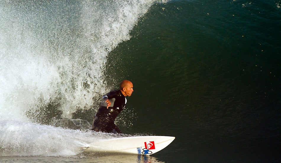 """Kelly winding up and powering through a cross bump before driving straight up and redirecting off the lip. Photo: <a href=\""""http://www.lowtiderising.com/\"""" target=\""""_blank\"""">Aroyan</a>"""