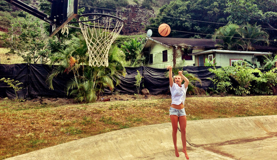"I have always been really into all sports and when I was young, I played basketball all the time. This photo was taken when I was in Hawaii this year. I still love to shoot some hoops from time to time. Photo: <a href=""http://www.liebervision.com/\"" target=_blank>Aaron Lieber</a>"
