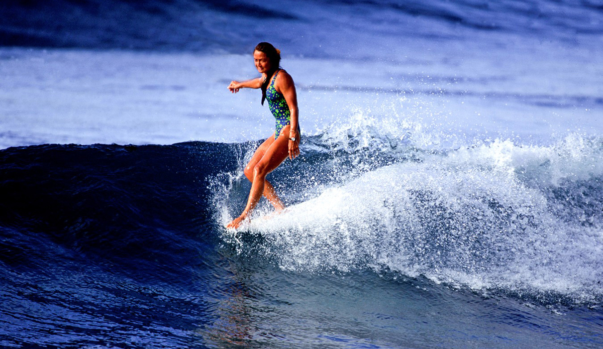 """""""Rell's longboarding stood out amongst men and women. Her grace on the nose, matched by her intuitive ability to put herself anywhere she wanted to go on the wave, made her a surfer in her own league. Not to mention her one pieces…."""" - Gerry Lopez 